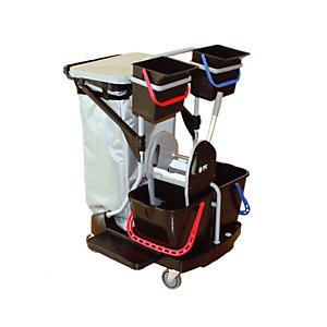 Chariot de ménage compact « black is green » ICA  avec presse  et housse pour support sac
