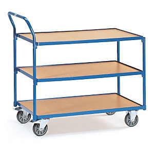Chariot à plateaux bois charge 300 kg
