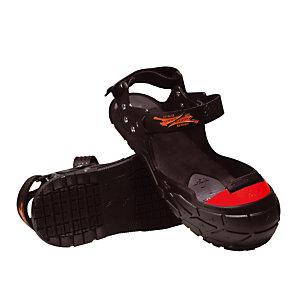 Sur-chaussures de sécurité antidérapantes avec embout de protection. T. 38  au 41.