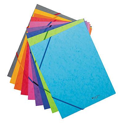 Chemise carte lustrée 3 rabats couleur EXACOMPTA
