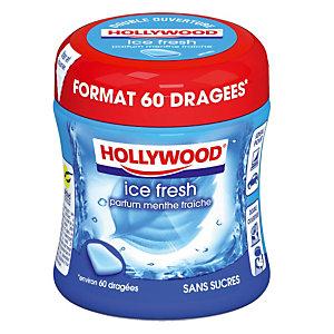 Chewing gum Hollywood Ice Fresh, 60 dragées, sans sucres