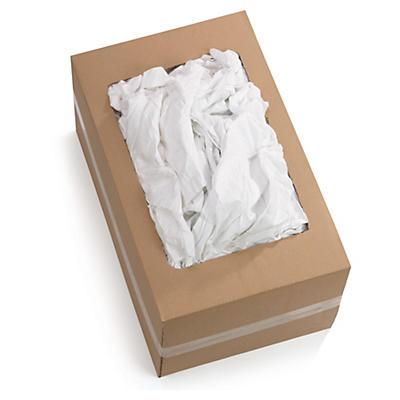 Chiffon blanc coton fin##Baumwoll-Lappen