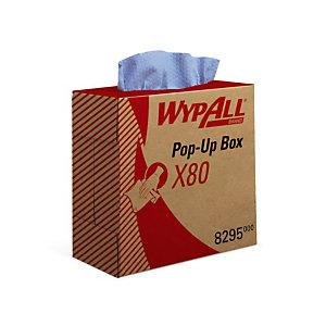 Chiffons non tissés Kimberly-Clark Wypall X80, la boîte de 80