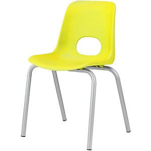 Children Sedia per ragazzi, Polipropilene, Altezza seduta 43 cm, Giallo