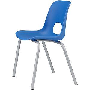 Children Sedia per ragazzi, Polipropilene, Altezza seduta 46 cm, Blu