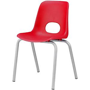 Children Sedia per ragazzi, Polipropilene, Altezza seduta 46 cm, Rosso