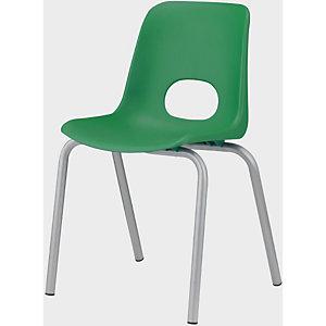 Children Sedia per ragazzi, Polipropilene, Altezza seduta 46 cm, Verde