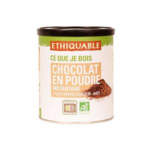 Chocolat en poudre Ethiquable, boîte de 400 g