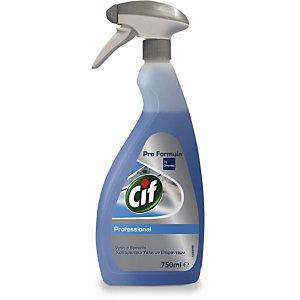 Cif Professional Detergente multiuso per vetri e specchi, Flacone spray 750 ml