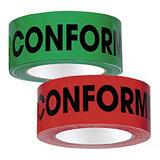 Cinta adhesiva de PVC para control de conformidad