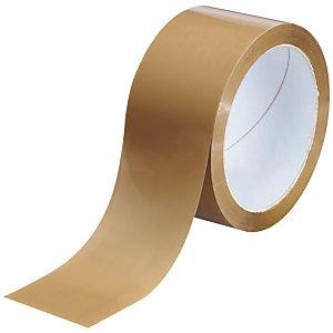 Cinta de embalaje fuerte, 50 mm x 66 m, PP, marrón