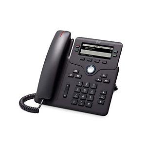 """Cisco 6851, Téléphone IP, Noir, Combiné filaire, 4 lignes, 8,89 cm (3.5""""), 396 x 162 pixels CP-6851-3PCC-K9="""