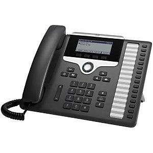 Cisco 7861, Téléphone IP, Charbon de bois, Combiné filaire, Polycarbonate, Sur bureau/mural, 16 lignes CP-7861-K9