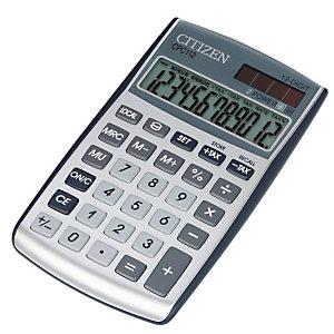 CITIZEN Calcolatrice tascabile CPC112, 12 cifre, Argento