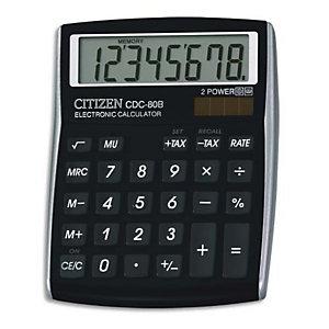 CITIZEN Calculatrice de bureau CDC80 Noire CDC80BKWB 7248290