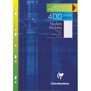 Clairefontaine 200 feuilles mobiles5x5 A4 (210 x 297 mm) Blanc 90g/m²