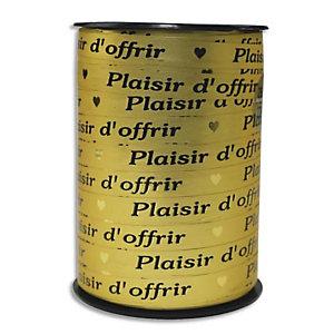 CLAIREFONTAINE Bobine bolduc de comptoir 225x1cm. Coloris Or Plaisir d'offrir Noir