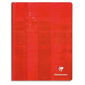 CLAIREFONTAINE Cahier brochure 192 pages grands carreaux Séyès 24x32cm. Couverture carte épaisse