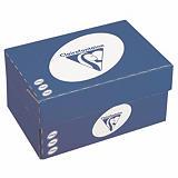 Clairefontaine Enveloppe extra blanche DL Clairalfa Premium 110 x 220 mm 90g sans fenêtre - bande autoadhésive