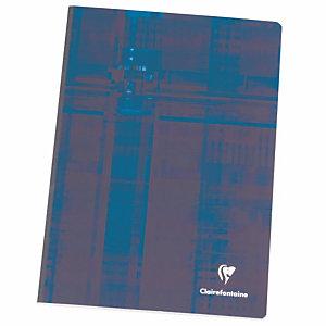 Clairefontaine Metric Cahier broché A4 21 x 29,7 cm - grands carreaux Seyès - 192 pages