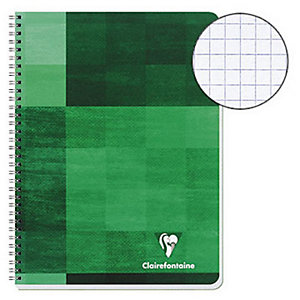 Clairefontaine Metric Cahier spirale 24 x 32 cm - petits carreaux 5x5 - 180 pages