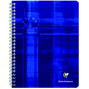 Clairefontaine Metric Cahier spirale A4 21 x 29,7 cm - petits carreaux 5x5 - 100 pages