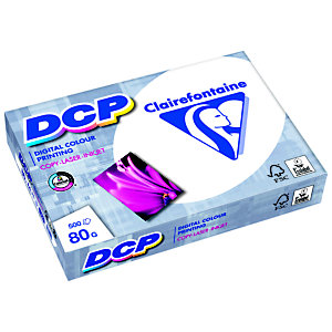 Clairefontaine Papier A4 blanc 80g DCP - Ramette de 500 feuilles
