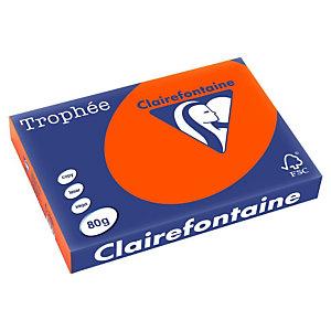 CLAIREFONTAINE Trophée Papier Couleur pour Jet d'encre et Laser A3 Rouge Cardinal 80 g/m² 500 Feuilles