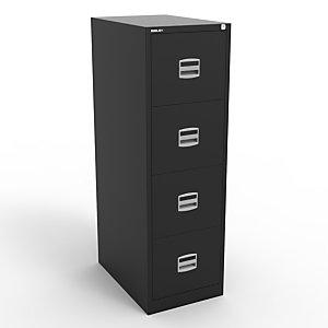 Classeur Budget  4 tiroirs - Métal - Noir