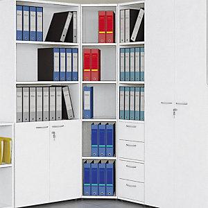 Classic Coppia Cassetti per libreria, dimensioni 36,2 x 29 x 35,8 cm, Bianco