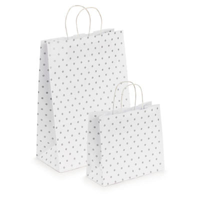 Classic polka dot Kraft paper carrier bags