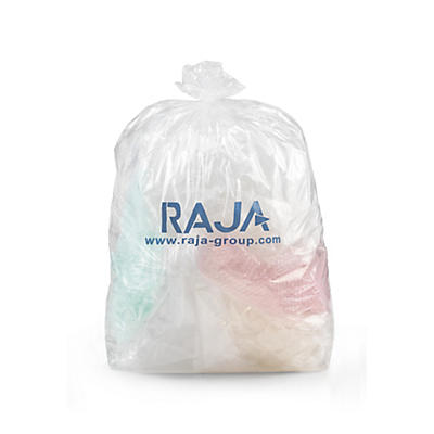 Clear 50-Micron Refuse Sacks with Print – Pack of 200