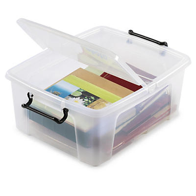 Clear double opening plastic storage containers
