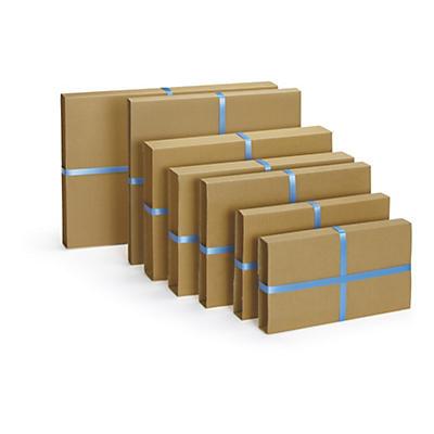 CLEARANCE - Standard brown panel wrap book boxes