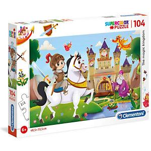 Clementoni, Puzzle, 104- draghi e cavaliere, 27113