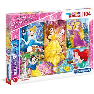 Clementoni, Puzzle, 104-  princess, 20140