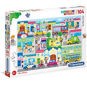 Clementoni, Puzzle, 104- the city - no license, 27114