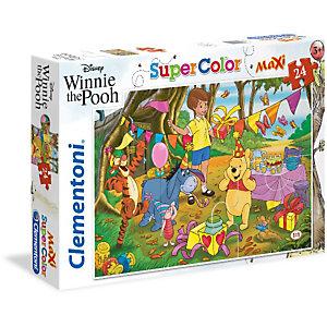 Clementoni, Puzzle, 24 maxi- winnie the pooh, 24201