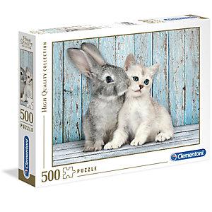 Clementoni, Puzzle, 500pz-  cat bunny, 35004