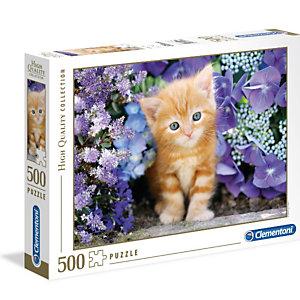 Clementoni, Puzzle, 500pz-  gattino rosso, 30415