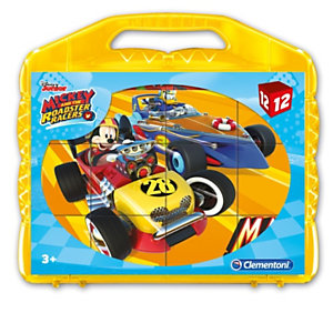 Clementoni, Puzzle, Cubi 12 -  mickey roadster racers, 41183B