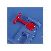 Clip de sécurité pour bac plastique pliant gerbable