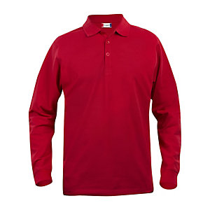 CLIQUE Polo ML Homme Rouge XS