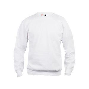 CLIQUE Sweat basic col rd Blanc S