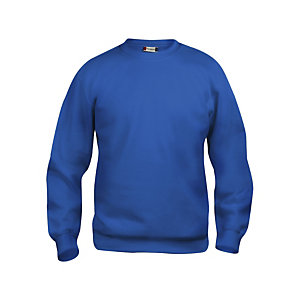CLIQUE Sweat basic col rd Bleu Royal M