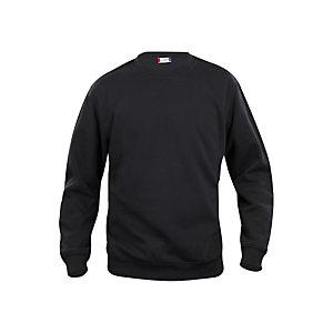 CLIQUE Sweat basic col rd Noir XL