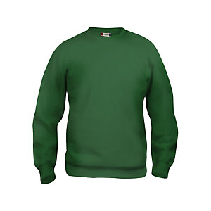 CLIQUE Sweat basic col rd Vert Bouteille XL
