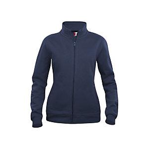 CLIQUE Sweat basic zippé Femme Bleu Marine M