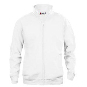 CLIQUE Sweat basic zippé Homme Blanc XL