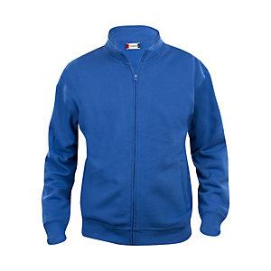 CLIQUE Sweat basic zippé Homme Bleu Royal XXL